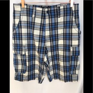 Beverly Hills Polo Club Plaid Cargo Shorts